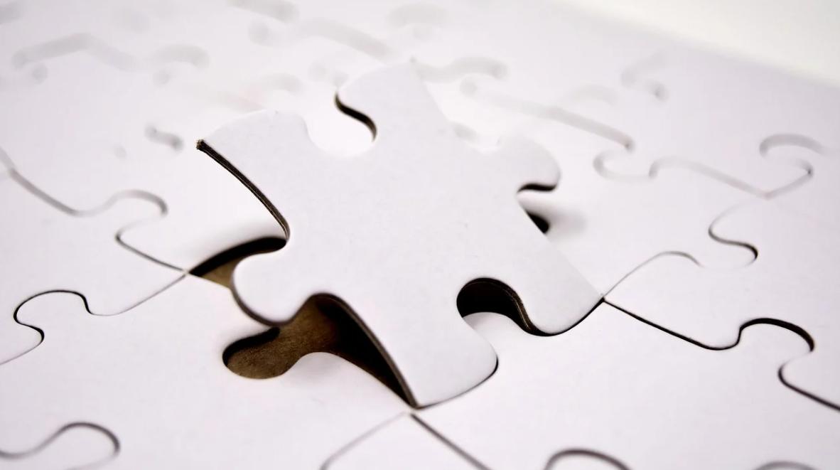 bílé puzzle