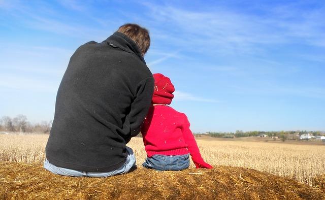 muž a dítě