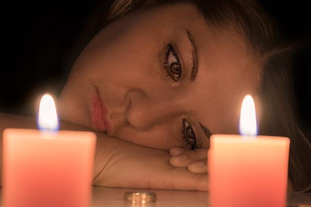 smutek u svíček
